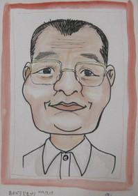 2005.0717赤平火祭りでK田さんの似顔絵IMG_3447.JPG
