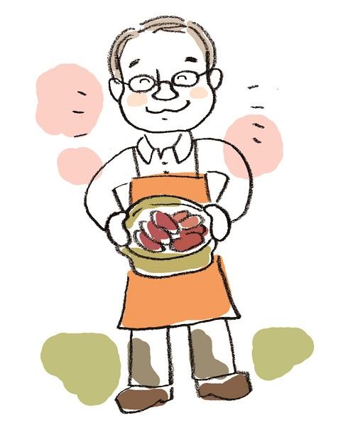 新岡さんからの似顔絵iwaisan