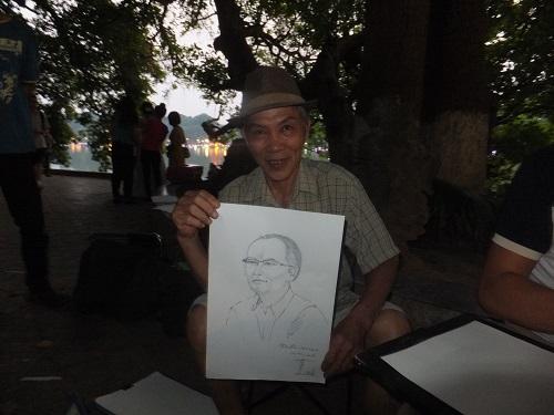 2014.1011ベトナムで似顔絵4 DSCF2162