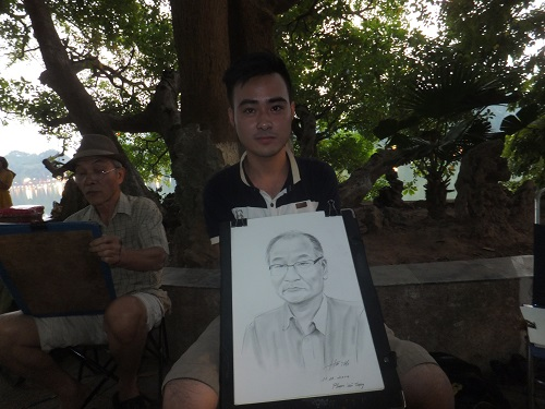 2014.1011ベトナムで似顔絵3 DSCF2161